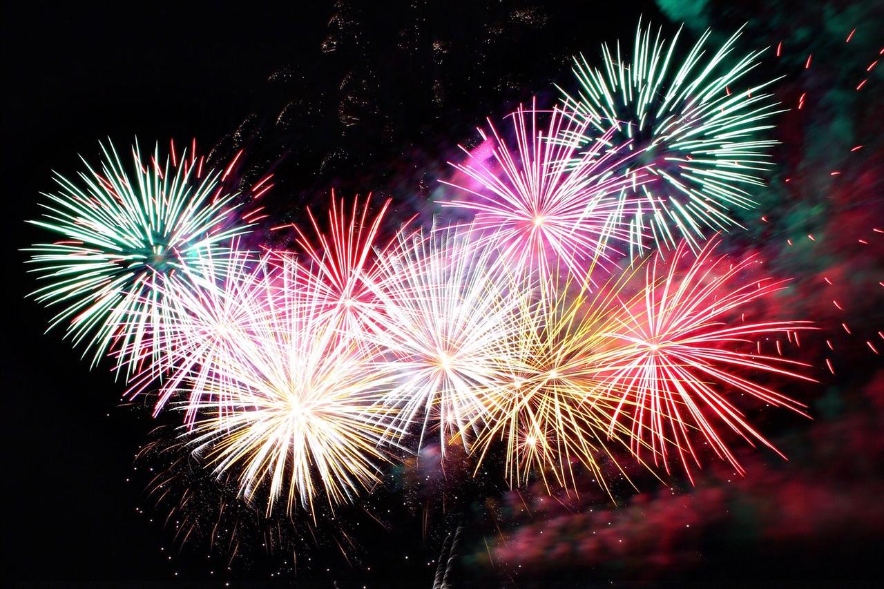 Image of multiple fireworks